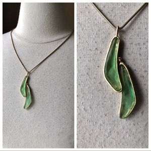 Jewelry - Sea Glass Necklace Gold Tone